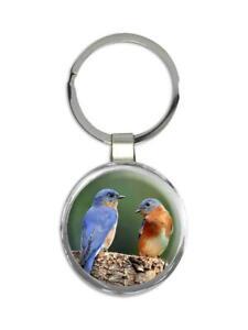 Gift Keychain : Eastern Bluebird Bird Watcher Photo Nature Blue