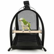 Transparent Bird Travel Cage Breathable Lightweight PVC Birds Handbag Carriers
