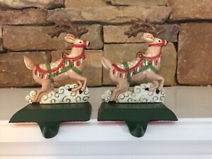 Midwest~of Cannon Falls~Santas Reindeer~Christmas~Stocking Holders~Pair