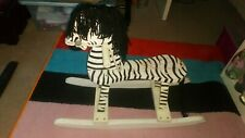 Wooden zebra small rocking horse
