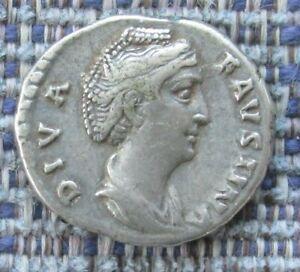 FAUSTINA SENIOR Roman silver denarius