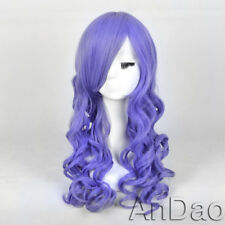 Light Purple Pastel Lavender Spiral Curly Layered Hair Long Wig women wigs