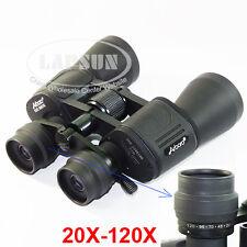 Power View 20X-120X 50mm Coated Optic Lens Military Zoom Binoculars Telescope