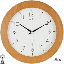 AMS 38 Radio Reloj De Pared Haya Contrachapada Caja Cocina oficina 983