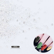 New Diy 1000Pcs White Charm Beads Mini Crystal Rhinestones Nail Art Decorations