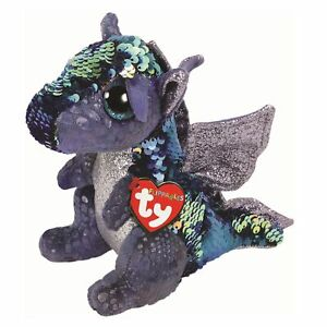 Ty Beanie Flippables 36343 Kate the Blue Dragon Sequin Flippable Regular