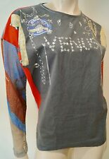 VIVIENNE WESTWOOD ANGLOMANIA Grey Cotton VENUS Long Mesh Sleeve Sweater Top M
