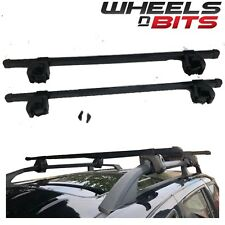 UNIVERSAL BLACK LOCKING CAR ROOF BARS FOR CARS WITH RAILS/RACK FITTED LOCKABLE