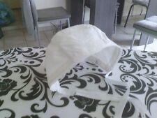 Bonnet ancien piqué blanc pour poupée ou baigneurBébé