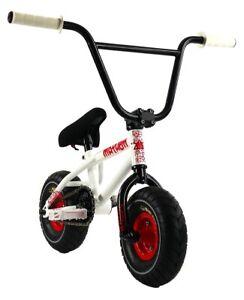 "Mayhem Riot Mini 10"" BMX Bicycle Freestyle Tire Bike Shocker White NEW"