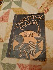Oriental Magic Tricks You Can Do-1934-rare-vintage Book
