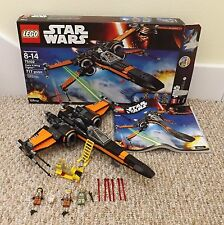 LEGO STAR WARS SET 75102 POE'S X-WING FIGHTER COMPLETE WITH BOX & INSTRUCTIONS