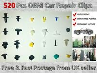 500+ Universal Car Door Trim Clip Bumper Rivets Screws Panel Push Fastener Kit