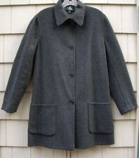 Calvin Klein Charcoal Gray 100% Wool Jacket Coat~MADE IN USA~