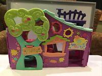 Littlest Pet Shop Club Tree House Play Set with Swing Purple Version 2007