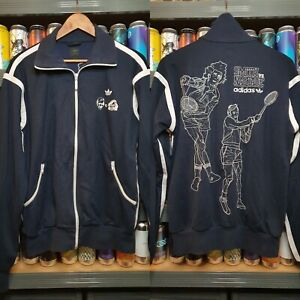 Adidas Mens Large Stan Smith Vs Nastase Tracksuit Jacket Track Top Vintage Rare