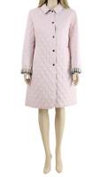 Burberry 100% AUTHENTIC Pink Casual Midi Smart Jacket Padded Coat UK 12 40