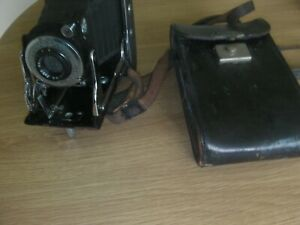 Vintage Agfa Ansco Viking 6.3 Folding Camera in Original Case, untested