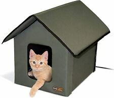 K&H PET PRODUCTS Outdoor Heated Kitty House Cat Shelter