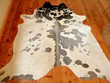 Kuhfell neu grau / weiß gefleckt ca. 230cm x 210cm  ; cowhide grey / white