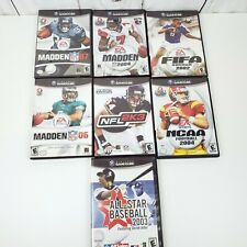 Nintendo GameCube Sports Game Lot - Madden / Baseball / FIFA / NFL / NCAA