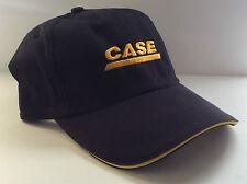 Black CASE Hat Ball Cap Secure Closure One Size Adjust Home Truck Sport Headgear