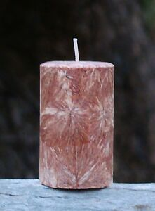 200hr VINTAGE LEATHER, SANDALWOOD & PATCHOULI CANDLE Mens FATHERS DAY & BIRTHDAY