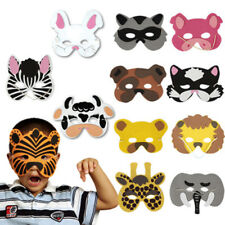 12pcs Mask Birthday Party Eva Foam Animal Masks Cartoon Kids Party Costume