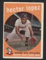 1959 Topps #402 Hector Lopez VG/VGEX Athletics UER 65302