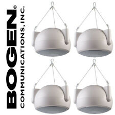 "4 Pack Set Bogen OPS1W 6.5"" Orbit Pendant Speaker White Hanging 100W Speakers"