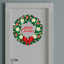 Walplus Christmas Garland Wall Sticker with Swarovski Crystals Home Decorations