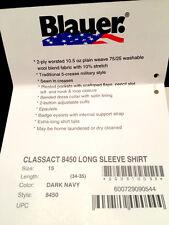 BLAUER 8450 CLASSACT WOOL BLEND Long Sleeve Uniform Work Shirt - Size 15