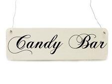 Shabby Vintage Schild CANDY BAR Hochzeit Dekoschild Bonbon