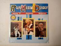Johnny 'P' / Japanese / Ninjaman-Ruff Mean And Deadly Vinyl LP 1991 New Sealed