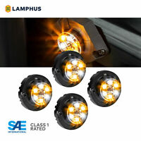 4pc LAMPHUS SnakeEye-III LED Hideaway Strobe Light SAE Class1 IP67 Amber/White