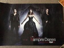 THE VAMPIRE DIARIES TVD Poster PAUL WESLEY CW Ian Somerhalder NINA DOBREV Air