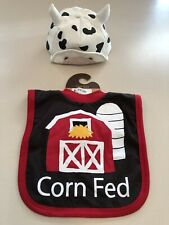 New listing Lazy One Pull-over Bib and RuBee Cow Cap