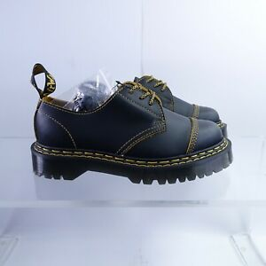 Size 9 Women's Dr. Martens 1461 Bex DS Platform Oxford Shoes Black/Yellow Smooth
