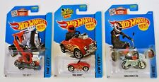 Hot Wheels Riders in Red 3 Car Lot - Honda Monkey Z50 Pedal Driver Tee'D Off 2