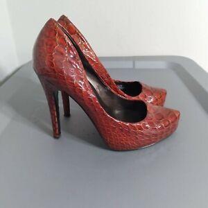 Jessica Simpson Parigi Women's Size 6 Shoes Red Pointed Toe Platform High Heels