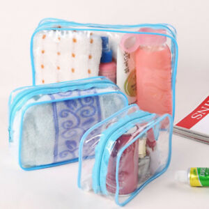 Makeup Cosmetic Clear Travel Wash Storage Bag Holder Pouch Zipper Bag Hot us