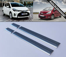 Toyota Yaris Mk3 4 Door (Released 2011) Stainless Sill Protectors / Kick Plates