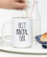 Rae Dunn Inspired Mug Best Principal Ever Coffee Cup Gift From Student Teacher