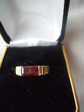 Vintage Art Deco Nouveau Red Garnet Gold Ring Antique Belle Epoque Stunning!