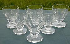 Val Saint Lambert -  Service de 6 verres à eau en cristal, modèle Aurillac (2)