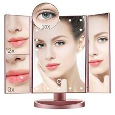 Women Touch Screen Makeup Mirror Tabletop Cosmetic Vanity light up Mirror 22 Led