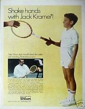 Jack Kramer Wilson Strata-Bow Tennis Racket Photo AD