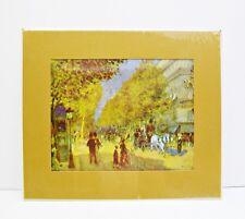 RENOIR Print GRAND BOULEVARD Mustard Color MAT Sealed Wrap NOVA ART & DESIGN