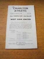 01/02/1966 Charlton Athletic Youth v West Ham United Youth [FA Youth Cup] (4 Pag