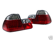 2002-2005 BMW E46 3 SERIES 4DR LED TAIL LIGHT BAR LIGHTBAR RED CLEAR